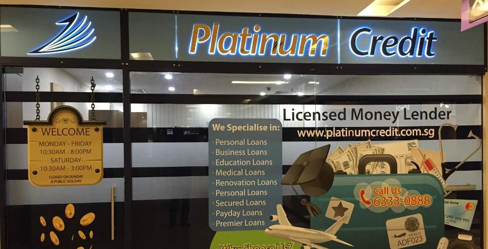 Indoor view of Platinum Credit.
