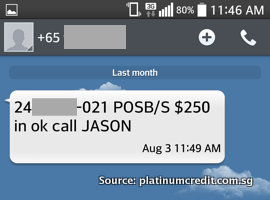 Loan Shark SMS - Fake Loan Deposited