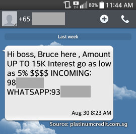 Loan Shark SMS - Reply to a Mobile Number