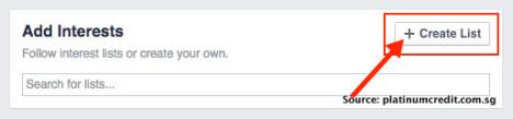 Free SG News Feed on Facebook - Create List