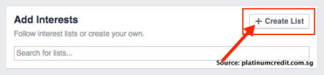 Facebook免费阅读新加坡新闻-Create List