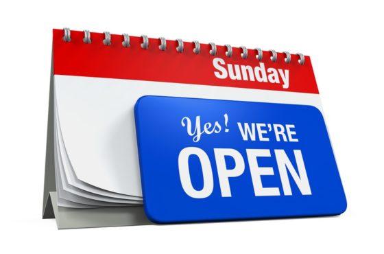 Open on Sunday